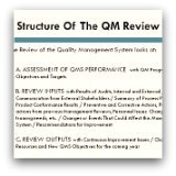 Quality Management Review Template