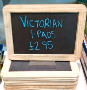 Victorian Ipad similar to post war generation technology