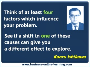 Ishikawa quote on Cause and effect, useful in managing the generation millennial