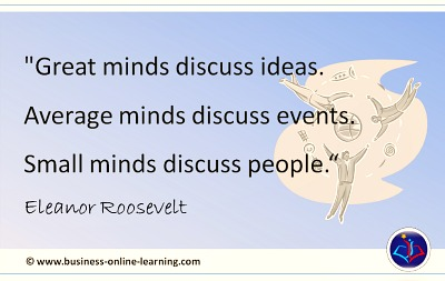 Business Sense from Eleanor Roosevelt