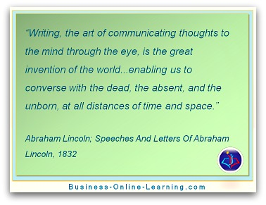 Abraham Lincoln's quote on Communication and writing
