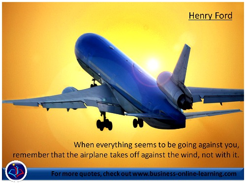 Taking off! Henry Fords Quote.