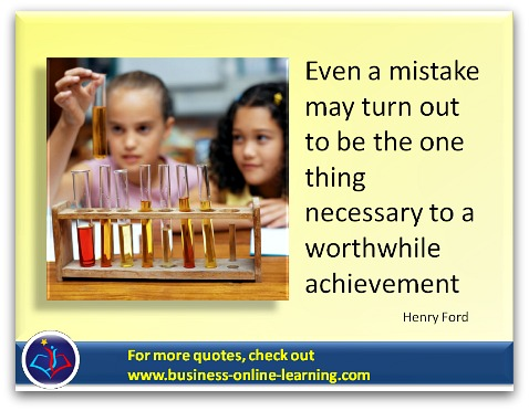 Henry Ford's quote on making mistakes.