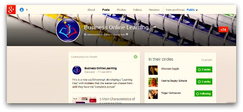Google Plus Business Online Learning