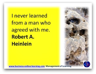Learning Quote by Heinein.