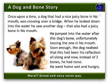 Management Parable The Dog and The Juicy Bone