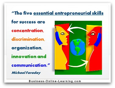 Five Entrepreneurial Skills by Micheal Faraday