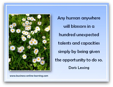 Quote on giving people opportunities by Doris Lessing