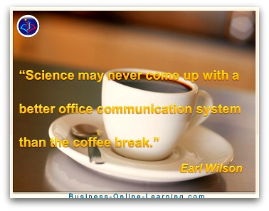 Coffee Break Quote on Communication by Wilson