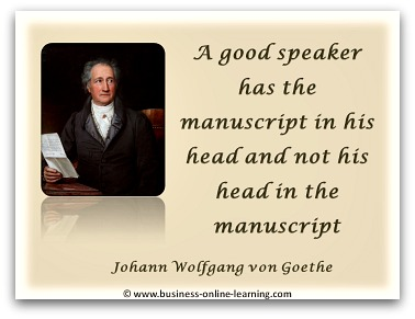 Quote by Wolfgang Goethe on Presenting Information