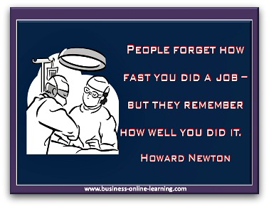 Quote by Howard Newton on Quality