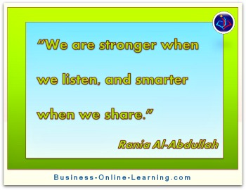 Great Quote on Communication by Rania Al-Abdullah
