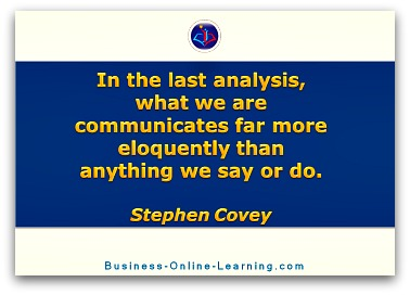 Quote by Steven Covey on the idea of communication and one's sense of oneself.