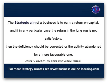Sloan on Strategy Quote