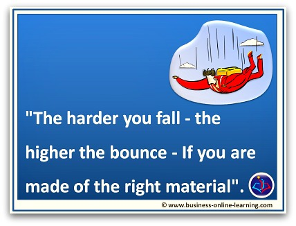 Quote on Your Personal Bounce back after a Fall