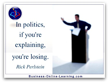 Perstins quote on Communication by Politicians