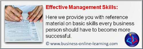 Our Target in this section of our website: effective Management Skills