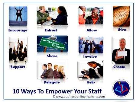 10 Ways To Empowering Staff