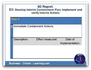 8D Report Section 3 Interim Containment Actions