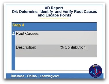 8D Report Section 4 Root Causes
