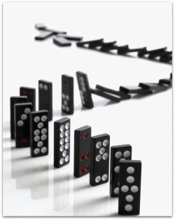 Business Process Management is like managing a set of dominoes.
