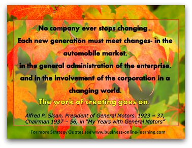 Alfred Sloan's Quote On Strategy