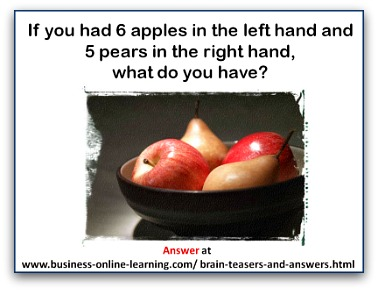 Brainteaser about Apples and Pears