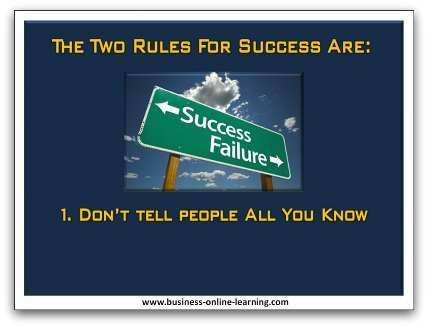 Business Online Learning Humour Rules of Success