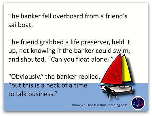 Business Humour Banker