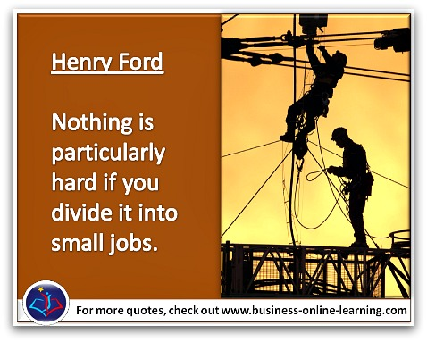 Henry Ford's quote on how to approach difficult tasks