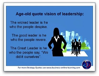 Age Old Quote on Leadership