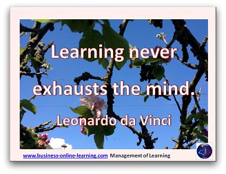 This Quote on Learning is from Leonardo Da Vinci