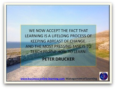 Peter Drucker And His Quote On Learning