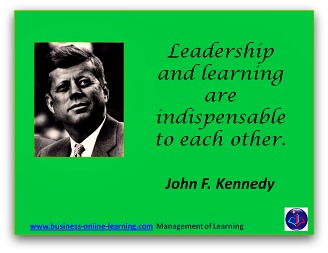 John F Kennedy Quote on Learning and Leadership