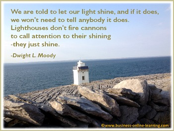 Quote on the Shining of Lighthouse
