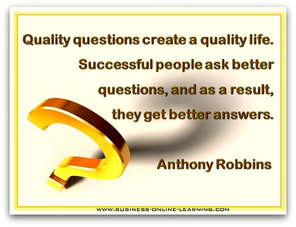 Anthony Robbins Quote on Quality Questions