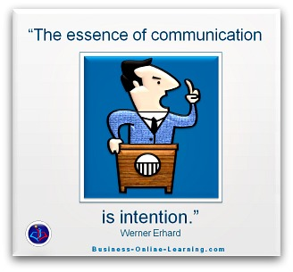 Werner Erhart: Quote on Communication Intent.