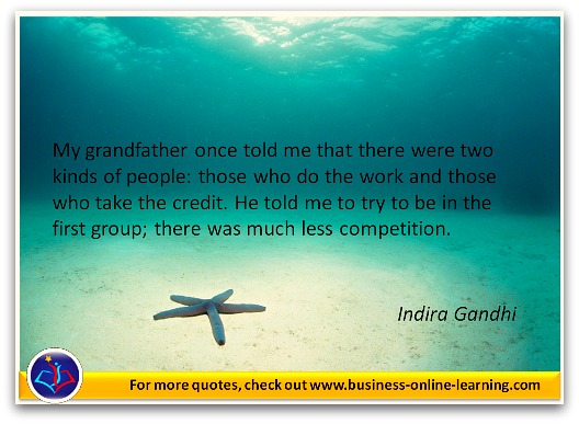 Indira Gandhi quotes her Grandfather.