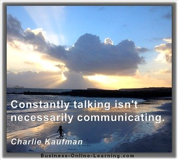Quote by Kaufman on Real Communication