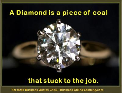 Business Quote on Diamonds