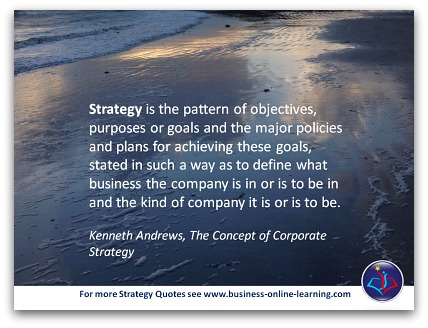 Strategy Quote by Kenneth Andrews.
