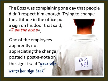 Humor at the cost of the boss