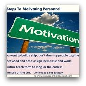 Here are 10 Steps in Motivating Staff